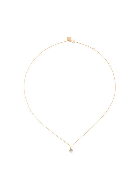 Ginette rose gold rose women necklace gold grey metallic jewels
