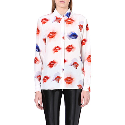 MSGM - Lip print blouse | Selfridges.com