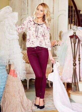 blouse pants lauren conrad floral floral blouse