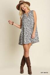 dress,ivory floral print shift,sleeveless,keyhole,floral