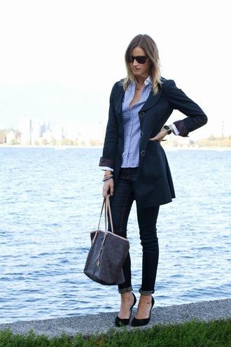 coat shoes t-shirt bag jeans sunglasses styling my life