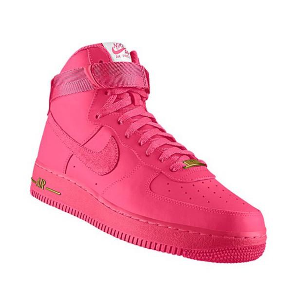 pink sneakers nike sneakers nike all pink high top sneakers nike air force  1 shoes 205e8375e