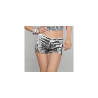 Silver sequin shorts, sequin trunks