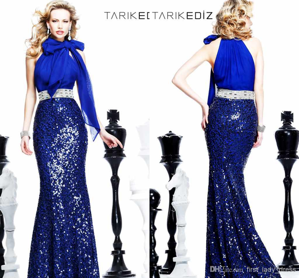 Cheap Sexy Evening Gown - Discount Glamorous Blue Halter Mermaid Prom Dresses Floor Length Online with $122.75/Piece | DHgate