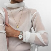 top,turtleneck,sheer,cream,white,sparkle