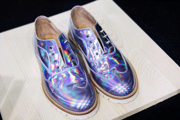 shoes studs studded shoes holographic holographic shoes violet lilac