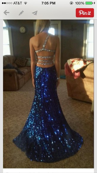 dress prom dress blue dress long prom dress sparkly dress 2014 prom dresses helpmefindthis need it now