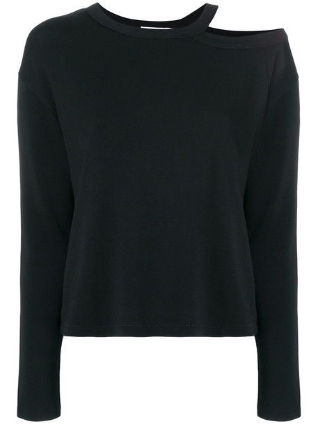 sweater women spandex cotton black