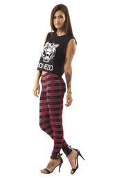 shirt,donezo,madeinhella,kenzo,plaid,tartan,leggings,crop tops,pants