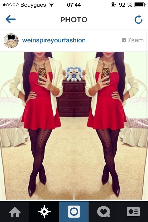 dress red cute