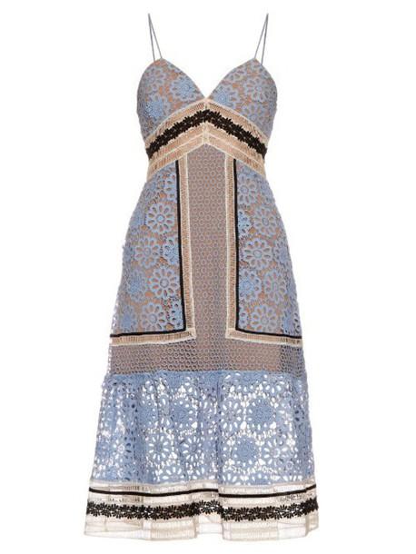 dress midi dress midi lace floral blue