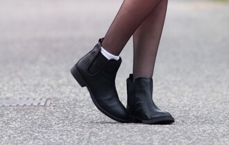 shoes black boots booties black