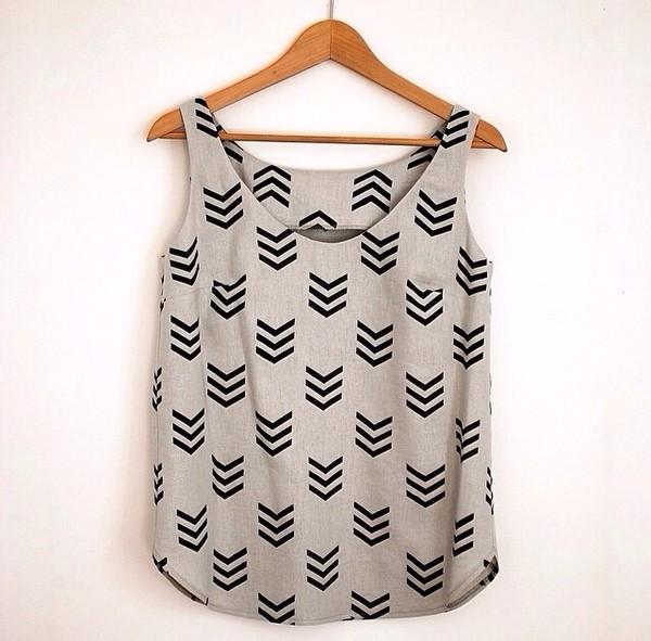 tank top arrow shirt cute