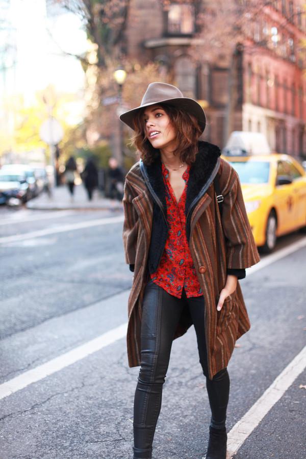 trop rouge jacket sweater t-shirt jeans jewels shoes hat