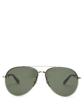 metal sunglasses green