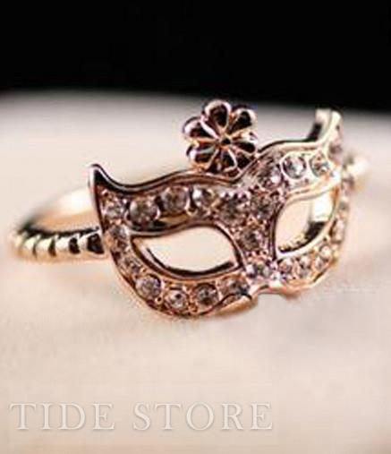 Korean Style Lovely Bohe Mask Women Rings : tidestore.com