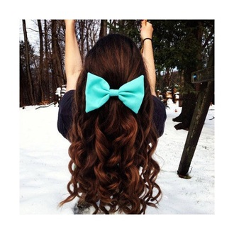 hair accessory curly hair bow cute long hair