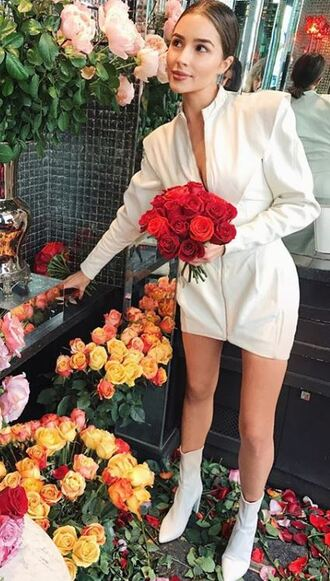 dress ankle boots mini dress olivia culpo instagram fall outfits shoes