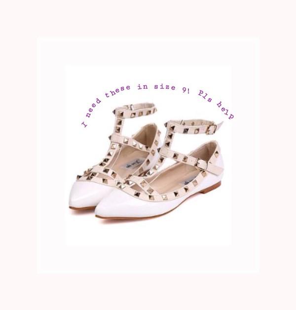 shoes mary jane pointy closed toe rivet
