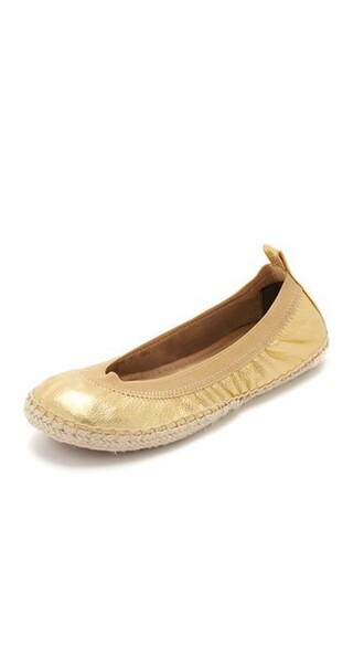 flats gold shoes