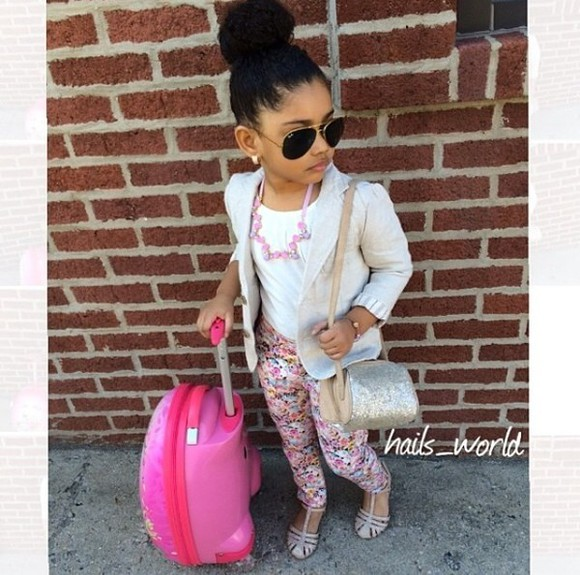 sunglasses rayban jacket toddler kids fashion girls girly suit case luggage floral floral print jeans floral print jeans, pink,white Sequin Bag
