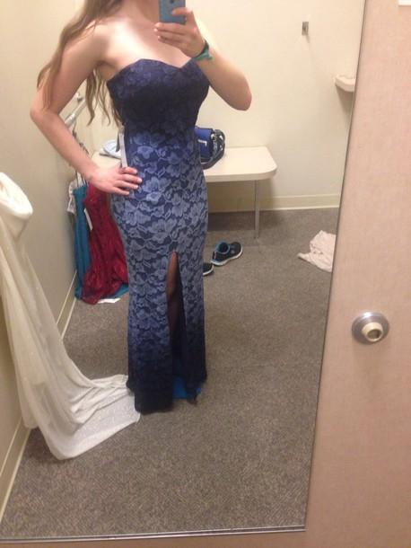 Macy's Blue Prom Dress