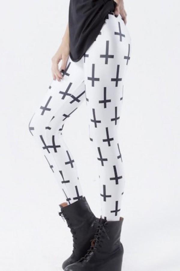 leggings kcloth cross leggings