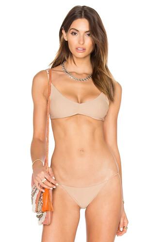 bikini bikini top back crochet taupe