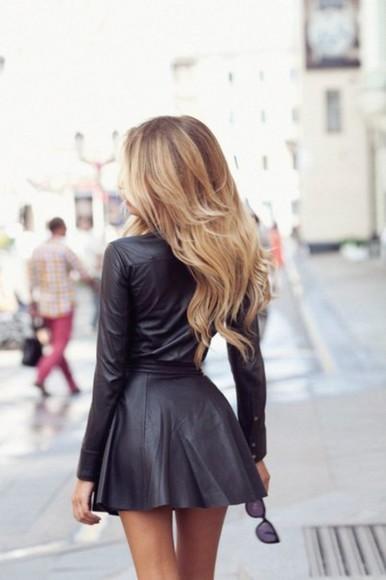 girl amazing short dress latex latex dress long arms