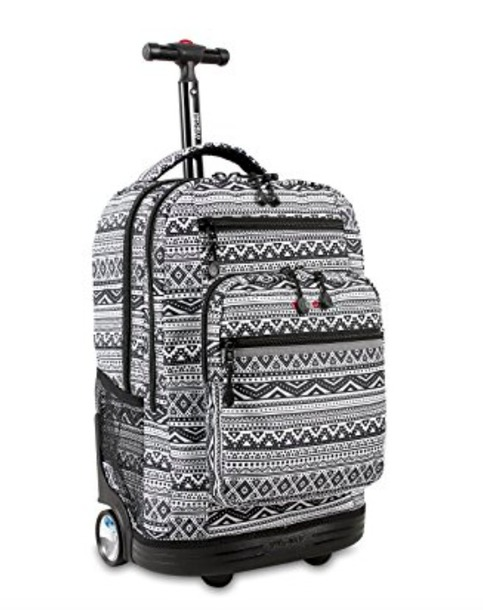bag aztec backpack wheels travel college back to school luggage