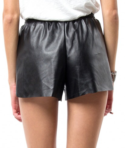 VEGAN LEATHER SHORTS - WOMEN'S