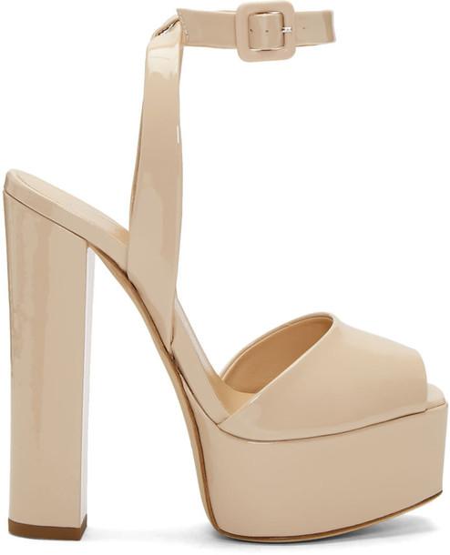 Giuseppe Zanotti sandals platform sandals pink shoes
