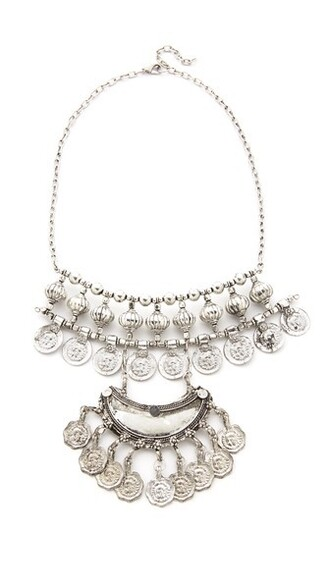 gypsy necklace silver jewels