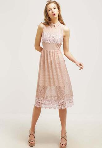 dress shirt dress lace dress pink lace dress wedding clothes wedding