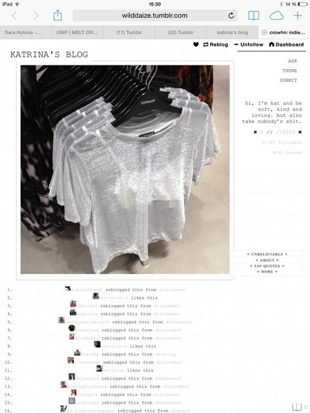 topshop see through t-shirt glitter