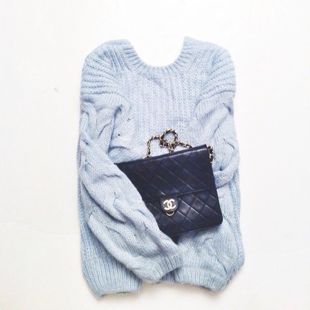 sweater backless sweater light blue fall sweater cable knit pastel sweater