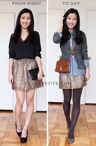 skirt metallic skirt