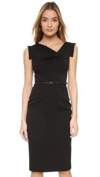 dress belted dress black