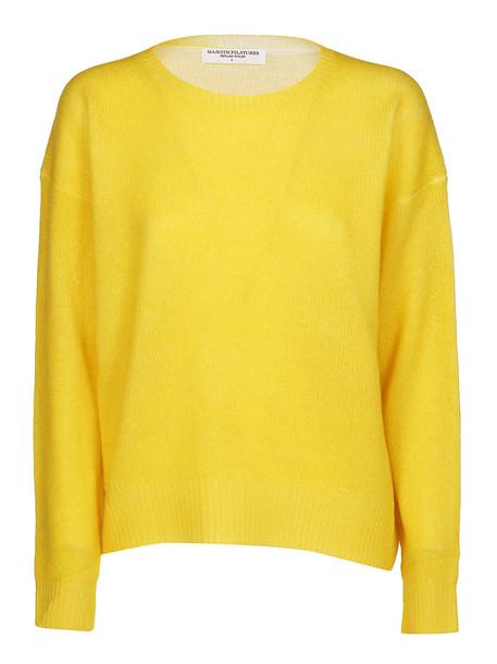 Majestic Filatures Majestic Filature Fine Knit Sweater in yellow