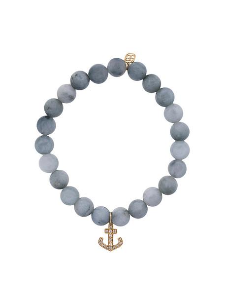 sydney evan beaded bracelet anchor women beaded gold grey jewels