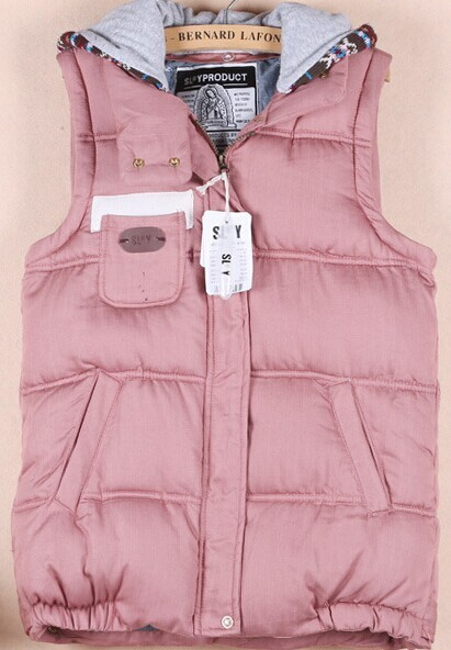 Fashion shopping mall — [gzxy0274]fashion warm solid color detachable hooded vest