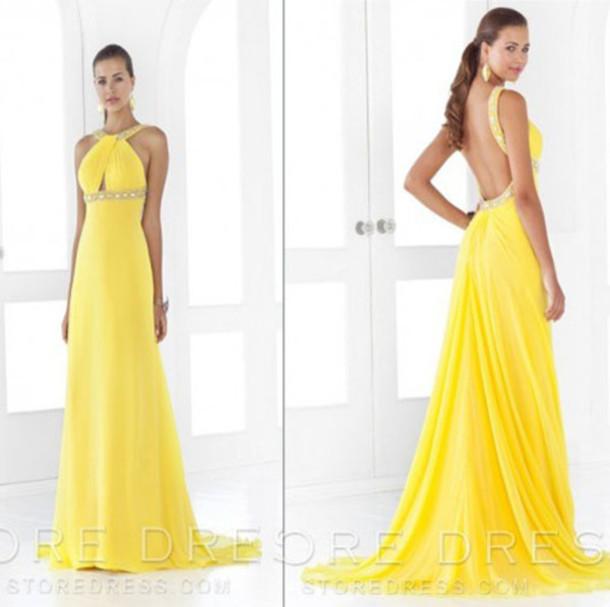 yellow prom dress 2014 wwwimgkidcom the image kid
