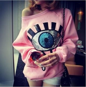 shirt t-shirt pink eyes classy summer dress summer beach party casual grunge nail polish winter outfits pocket t-shirt