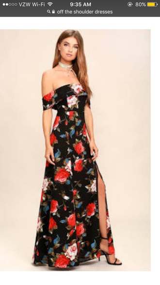 dress floral prom prom gown prom dress floral dress cute fashion