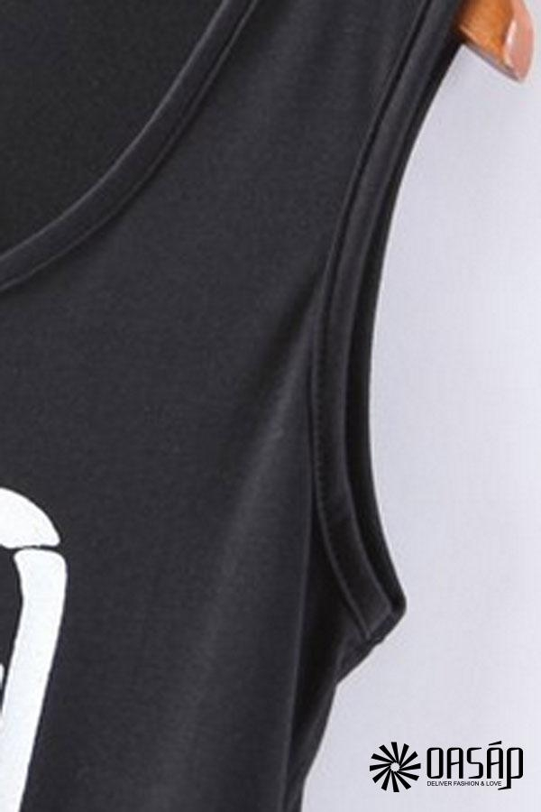 Hand Graphic Tassels Tank Dress - OASAP.com