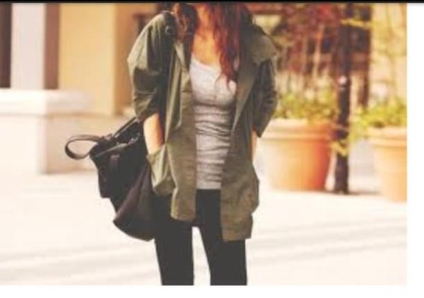 jacket khaki green trendy