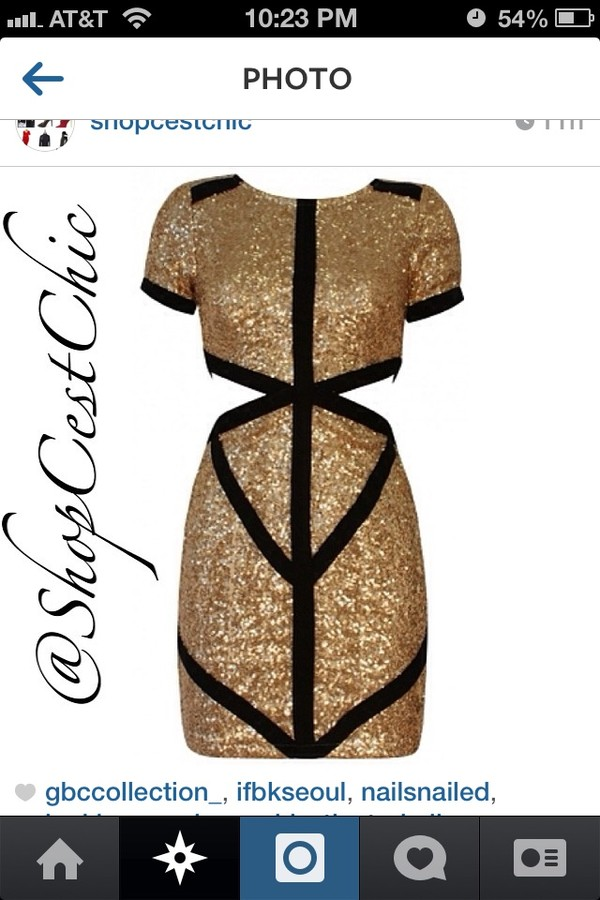 dress gold sequins dress black and gold sequins cut-out dress