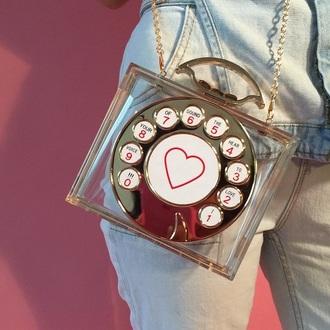 bag phone vintage purse phone purse red pink vintage purse heart