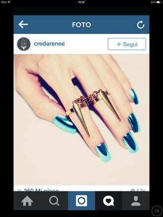 jewels ring style beautiful gold metallic metallic nails