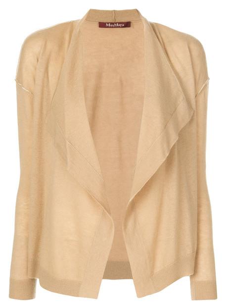 Max Mara Studio cardigan cardigan open women nude wool sweater